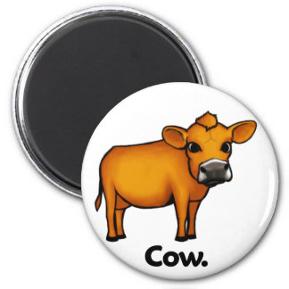 Vaca de la vaca imán redondo 5 cm