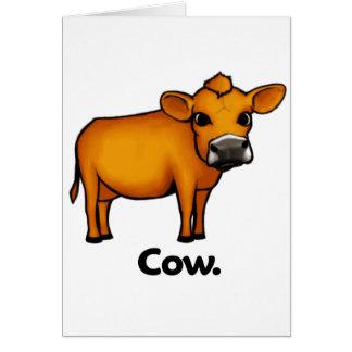Vaca de la vaca tarjeta de felicitación
