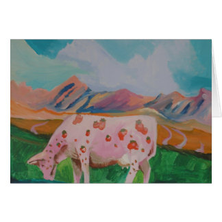 Vaca de leche de la fresa de Stephen R. Tarjeta