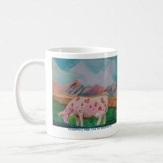Vaca de leche de la fresa de Stephen R. Taza De Café