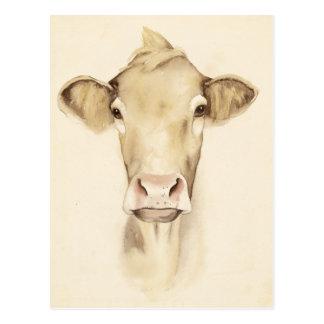 Vaca de los animales el | del granero de la postal