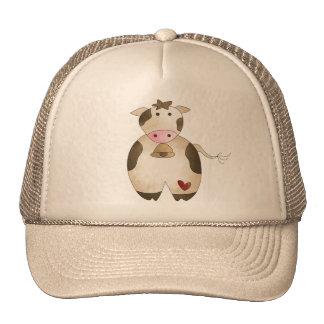 Vaca de los granjeros gorras