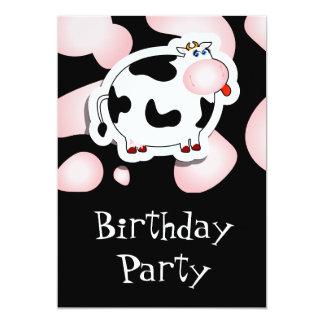 Vaca del dibujo animado, invitación