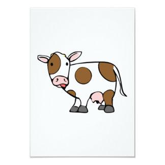 Vaca del dibujo animado invitación 8,9 x 12,7 cm