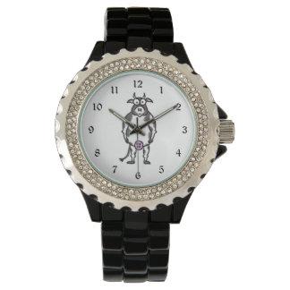 Vaca del dibujo animado reloj