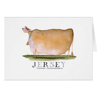 vaca del jersey, fernandes tony tarjeta de felicitación