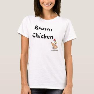 Vaca del marrón del pollo de Brown Camiseta