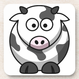 vaca del MOO del dibujo animado Apoyavasos