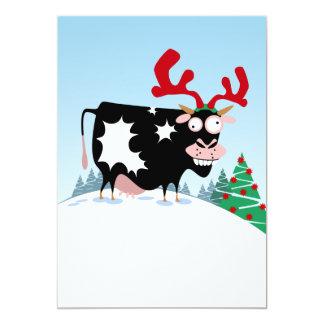 Vaca del navidad de Mooey Invitación 12,7 X 17,8 Cm