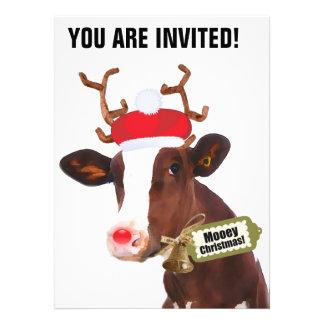 Vaca del reno de las Felices Navidad de Mooey Comunicado