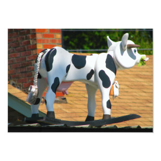 Vaca del tejado anuncio personalizado