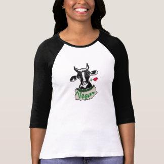 Vaca del vegano camiseta