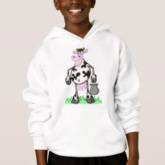 """vaca """"dibujo animado """" del suéter del niño"""