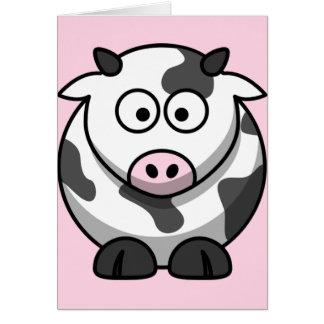 Vaca divertida linda tarjeta de felicitación