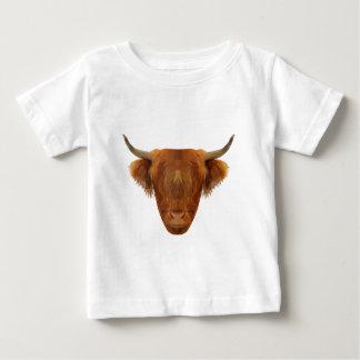 Vaca escocesa del animal de Escocia del ganado de Camiseta De Bebé