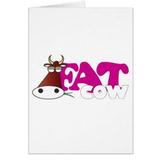 Vaca gorda tarjeta de felicitación