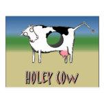 Vaca Holey Tarjeta Postal