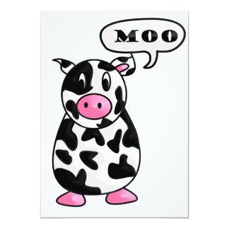vaca invitación 12,7 x 17,8 cm