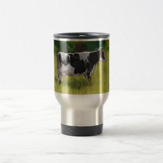 Vaca lechera de Holstein: Pintura en colores Taza De Viaje