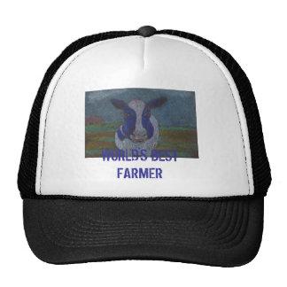 Vaca lechera del granjero orgulloso gorros