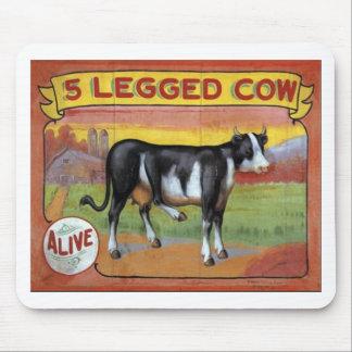 Vaca Legged cinco Alfombrilla De Ratón