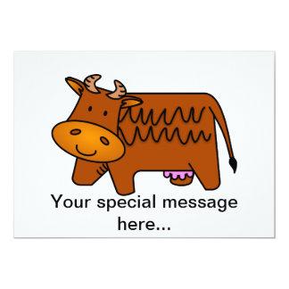 Vaca linda de Brown Invitaciones Personalizada
