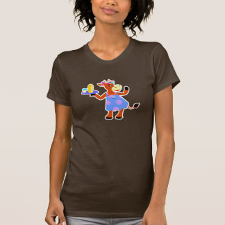 Vaca linda de la camarera camisetas