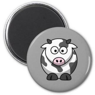 Vaca linda imán redondo 5 cm