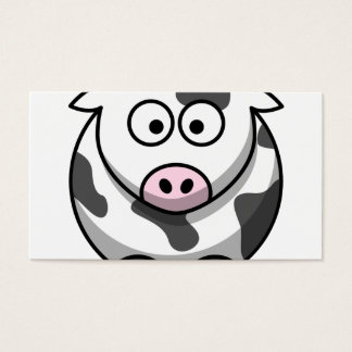 Vaca linda principal y cola tarjeta de negocios