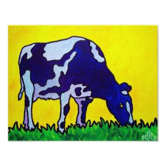 Vaca mágica invitación 10,8 x 13,9 cm