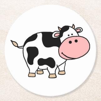 Vaca Posavasos De Papel Redondo
