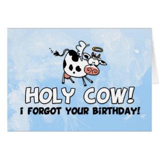 ¡Vaca santa! ¡Olvidé su cumpleaños! Tarjeta De Felicitación