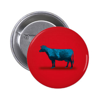 Vaca santa… Serie de la granja No.1 Chapa Redonda 5 Cm