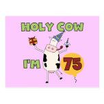 Vaca santa soy 75 camisetas y regalos del cumpleañ tarjetas postales