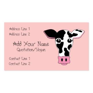 Vaca Tarjetas De Visita