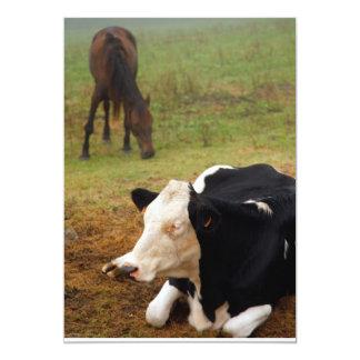 Vaca y caballo invitación 12,7 x 17,8 cm