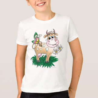 Vaca y mariposa camiseta