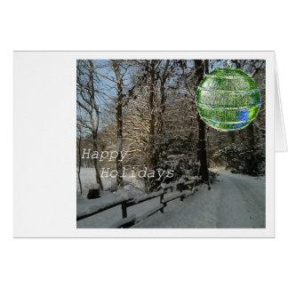 Vacaciones de invierno felices tarjeta