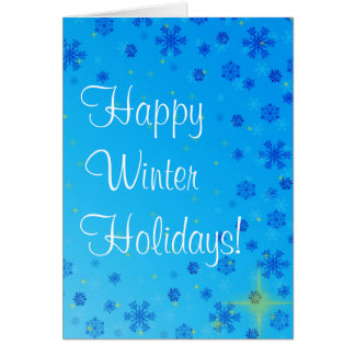 Vacaciones de invierno felices fijadas - azul tarjeta