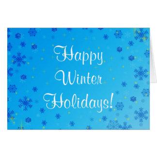 Vacaciones de invierno felices fijadas - azul tarjetón
