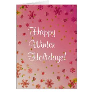 Vacaciones de invierno felices fijadas - rosa felicitacion