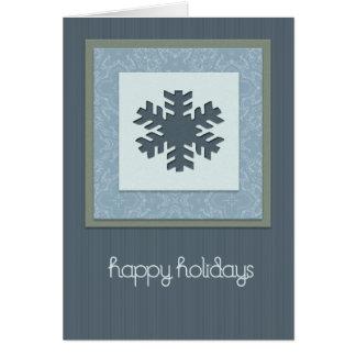 Vacaciones de invierno felices tarjeta de felicitación