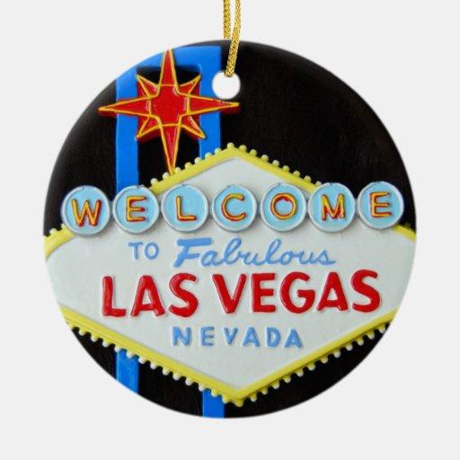 Vacaciones de Las Vegas Ornamentos De Navidad