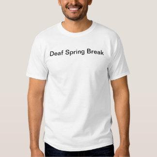 Vacaciones de primavera sordas básicas camiseta
