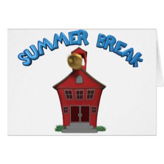 Vacaciones de verano felices tarjeton