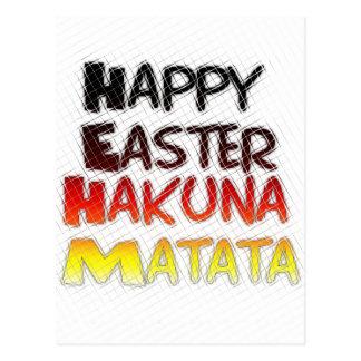 Vacaciones felices bendecidas de Pascua Hakuna Postal