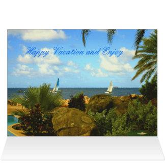 Vacaciones felices de la tarjeta de felicitación