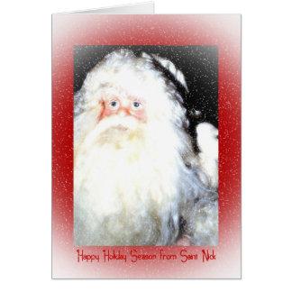 Vacaciones felices del santo Nick Tarjeton