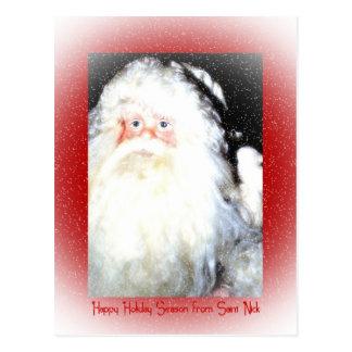 Vacaciones felices del santo Nick Tarjetas Postales