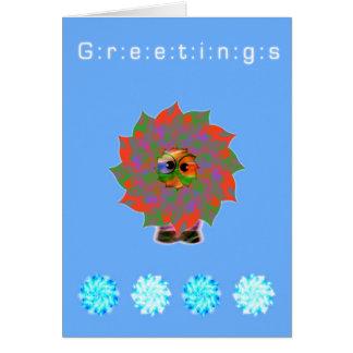 Vacaciones felices extranjeras lindas de los tarjeta de felicitación